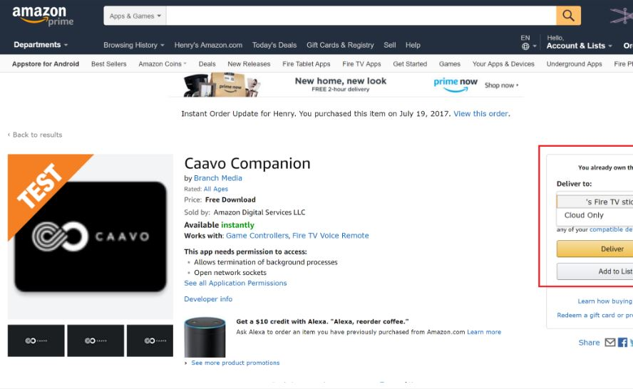 DEVICES: Amazon FireTV – Caavo